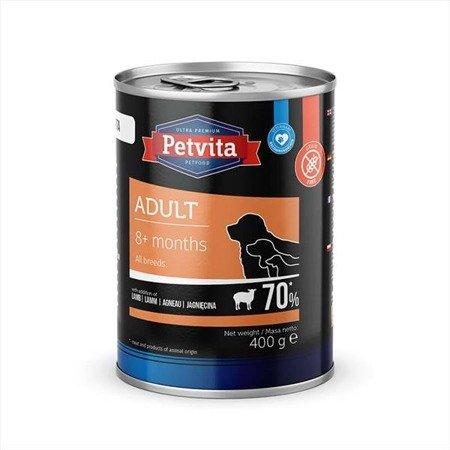 PETVITA Adult dla psów z wieprzowiną, drobiem, jagnięciną, wołowiną, marchewką - puszka