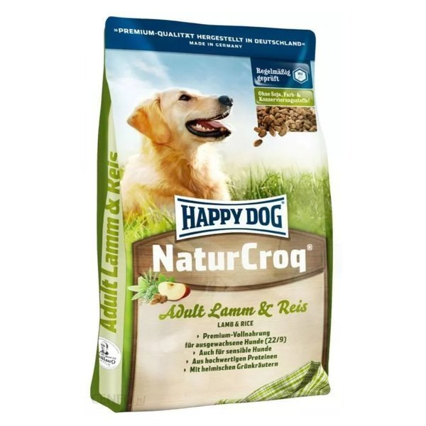 happy dog naturcroq lamm reis sucha karma dla ps w. Black Bedroom Furniture Sets. Home Design Ideas