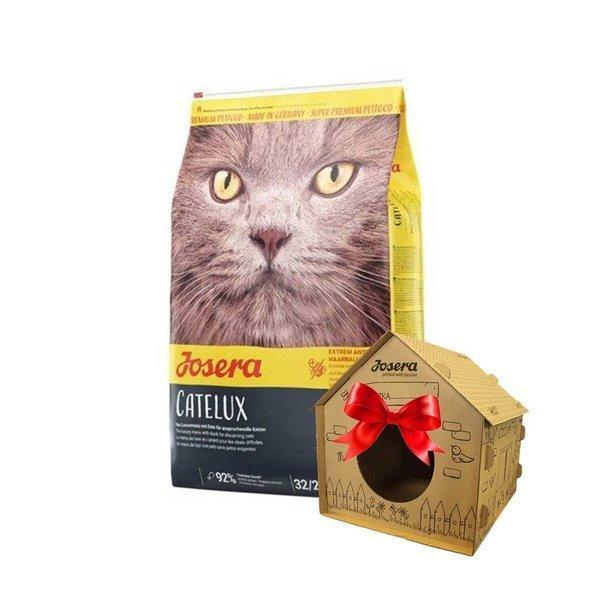 JOSERA Catelux - 10kg + domek tekturowy dla kota GRATIS